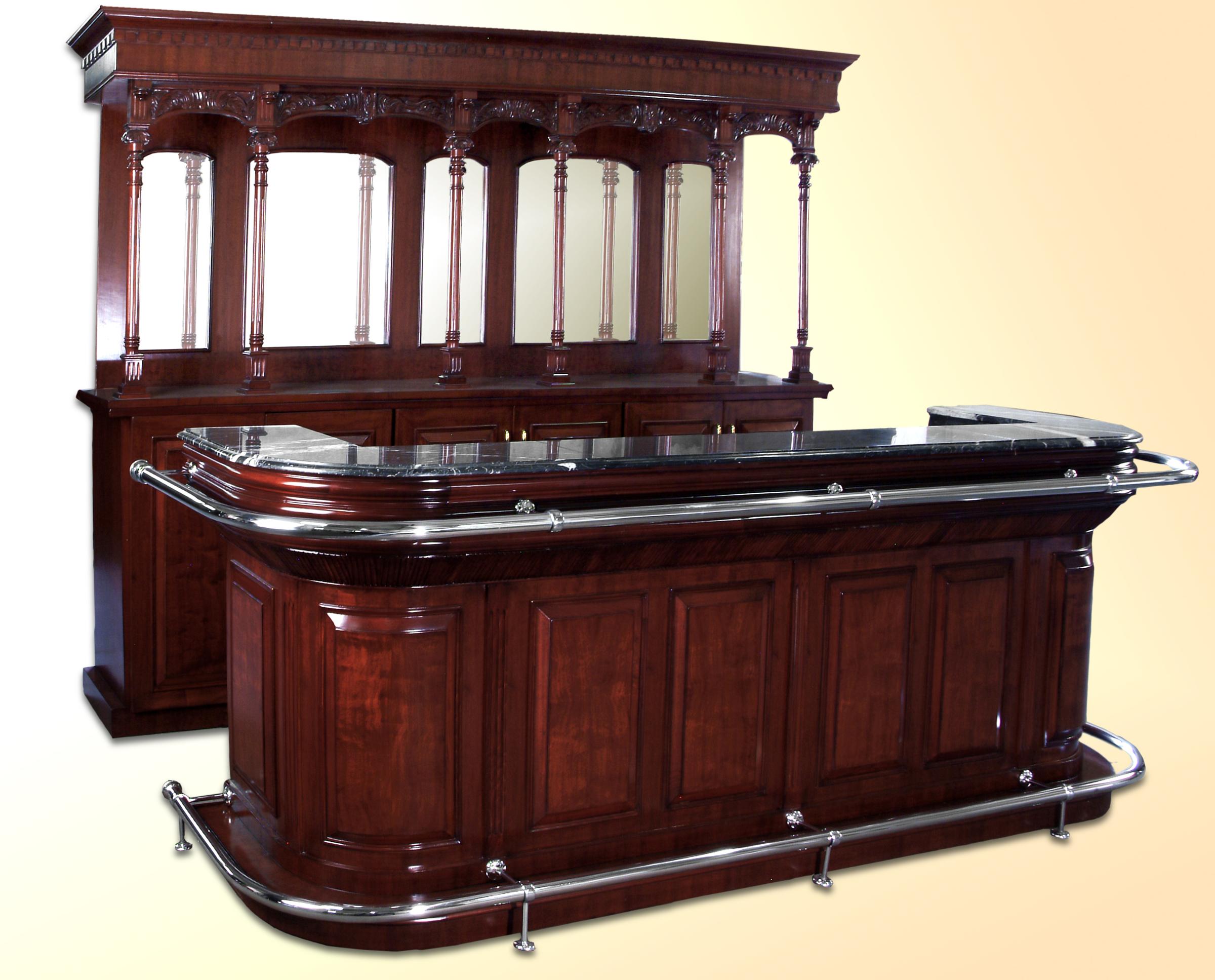 Bar 129MA – 9 ft Maple with Mahogany Finish Cocktail Bar