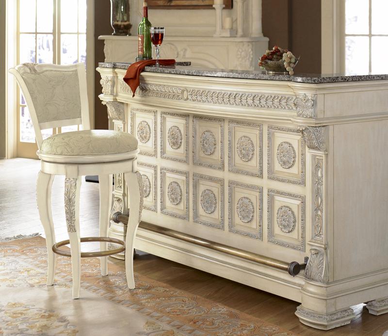 Bar WNL6U – Silver Italian Renaissance Home Bar
